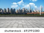 panoramic skyline and buildings ... | Shutterstock . vector #691991080