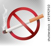 no smoking sign. illustration... | Shutterstock . vector #691992910