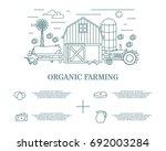 organic farming concept vector... | Shutterstock .eps vector #692003284