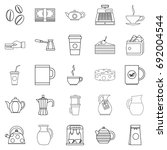 coffee house icons set. outline ... | Shutterstock .eps vector #692004544
