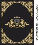 gold decorative frame. vector... | Shutterstock .eps vector #692006200