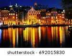 scenic view of amsterdam canal...   Shutterstock . vector #692015830