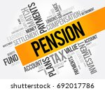 pension word cloud collage ... | Shutterstock .eps vector #692017786