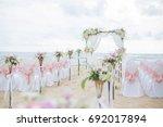 beach wedding dress  this... | Shutterstock . vector #692017894