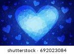 dark blue vector greeting card...   Shutterstock .eps vector #692023084