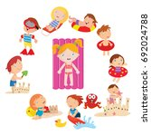 variation of cute kids in... | Shutterstock .eps vector #692024788