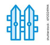 boundary icon | Shutterstock .eps vector #692024944