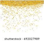 gold money rain. a lot of cash. ... | Shutterstock .eps vector #692027989