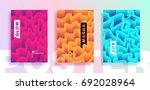 modern posters or covers with... | Shutterstock .eps vector #692028964