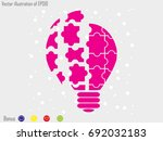 light puzzle icon  vector... | Shutterstock .eps vector #692032183