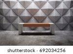 abstract empty concrete... | Shutterstock . vector #692034256