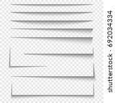 paper sheet shadow effect.... | Shutterstock .eps vector #692034334