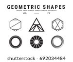geometric shapes set. universal ... | Shutterstock .eps vector #692034484