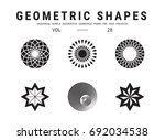 geometric shapes set. universal ... | Shutterstock .eps vector #692034538