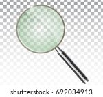 magnifier transparent realistic ...   Shutterstock .eps vector #692034913