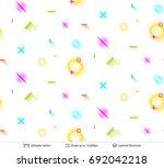 abstract avangarde retro... | Shutterstock .eps vector #692042218
