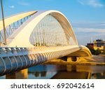 new and modern troja bridge...   Shutterstock . vector #692042614