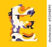 abstract e letter design made... | Shutterstock .eps vector #692048890