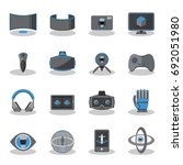 flat icons for virtual reality... | Shutterstock .eps vector #692051980