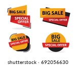 yellow red shopping sale banner ... | Shutterstock .eps vector #692056630