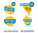 colorful shopping sale banner... | Shutterstock .eps vector #692056690