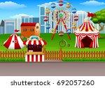 amusement park background   Shutterstock . vector #692057260