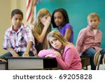 elementary age bullying in... | Shutterstock . vector #69205828