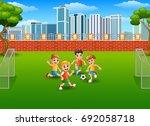 vector illustration of children ... | Shutterstock .eps vector #692058718