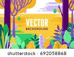 vector illustration in trendy... | Shutterstock .eps vector #692058868