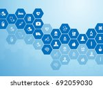 medical background and icons to ... | Shutterstock .eps vector #692059030