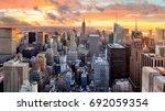new york city at sunset  usa | Shutterstock . vector #692059354