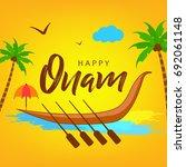 happy onam  easy to edit ... | Shutterstock .eps vector #692061148