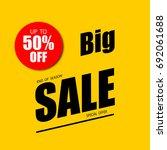 sale banner  50  off  special... | Shutterstock .eps vector #692061688