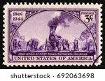 usa   circa 1944  a stamp...   Shutterstock . vector #692063698