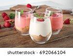 delicious yogurt with... | Shutterstock . vector #692066104