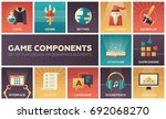computer game components  ... | Shutterstock .eps vector #692068270