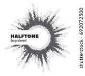 vector abstract halftone circle ... | Shutterstock .eps vector #692072500