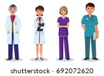 team of doctors and nurses of... | Shutterstock .eps vector #692072620
