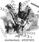heavy metal hand background | Shutterstock .eps vector #69207691