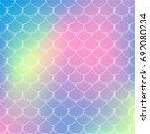 fish scale on trendy gradient... | Shutterstock .eps vector #692080234