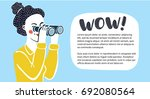 vector horizontal banner with... | Shutterstock .eps vector #692080564