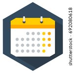 calendar flat icon with...