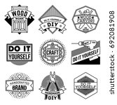 simple mono lines logos...   Shutterstock .eps vector #692081908