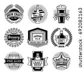 simple mono lines logos... | Shutterstock .eps vector #692082163