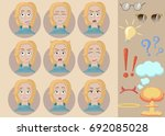 woman with different face... | Shutterstock .eps vector #692085028