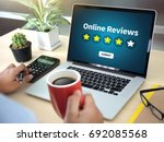 online reviews evaluation time... | Shutterstock . vector #692085568