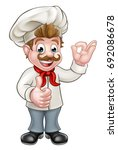 cartoon chef or baker character ... | Shutterstock . vector #692086678