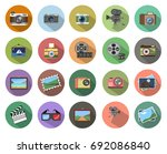 camera icon   Shutterstock .eps vector #692086840