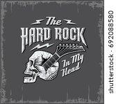 skull guitar  hard rock in my...   Shutterstock .eps vector #692088580