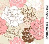 romantic floral seamless...   Shutterstock .eps vector #69209152